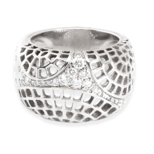 Cartier Diamond Dome Ring in 18K White Gold (0.45 CTW