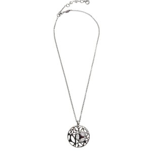 BRAND NEW Di Modolo Rock Crystal Necklace in Plated Black Rhodium MSRP 650