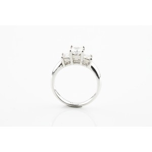 18K White Gold with 1.26ctw. Diamond Engagement Ring Size 6.5