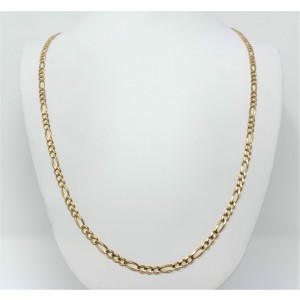 14K  Yellow Gold Figaro Link Chain Necklace