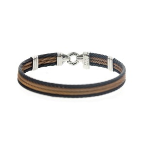 Alor 18KT/ Stainless steel Bronze-Black PVD Cable Bracelet