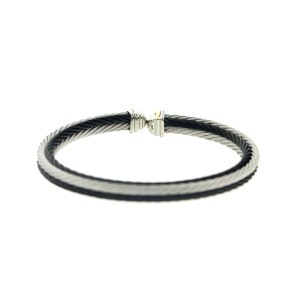 Alor 18KT/ Stainless steel Black PVD & GRAY Cable Bracelet