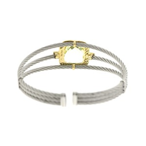 Alor 18K Yellow Gold & Stainless steel & with LEMON QRTZ Bangle