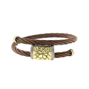Alor 18K Yellow Gold & Stainless steel & Bronze PVD Bangle