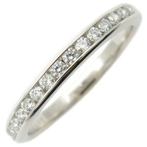 Tiffany & Co. Diamond Platinum Half Circle Channel-set Ring
