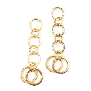 Tiffany & Co. 18K Yellow Gold Multi Circle Drop Dangle Earrings