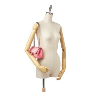 Reissue Croc Stitch Satin Double Flap Bag