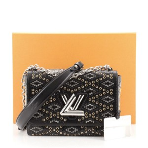 Louis Vuitton Twist Handbag Limited Edition Grommet Embellished Leather MM