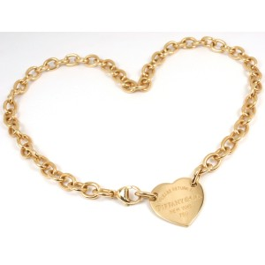 46bcc0d55 Tiffany & Co. Return To Tiffany 18K Yellow Gold Heart Tag Choker Necklace