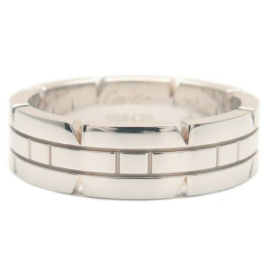 Cartier 18k White Gold Tank Francaise Ring