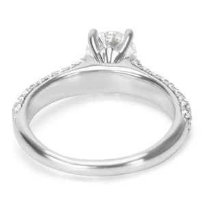 Pave Diamond Engagement Ring in 14K White Gold  (1.25 CTW)