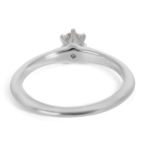 Tiffany & Co. Solitaire Diamond Engagement Ring in Platinum 0.23 ct