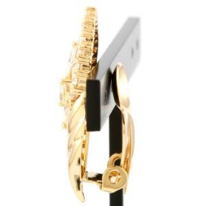 TASAKI 18K yellow Gold Diamonds gorgeous Earring CHAT-755