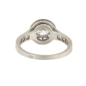Van Cleef & Arpels Platinum with 0.70ct Diamond Icône Solitaire Engagement Ring Size 6
