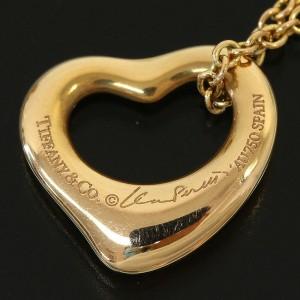 TIFFANY&CO. 18k Yellow Gold Elsa Peretti Open Heart Pendant Necklace
