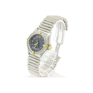 Breitling Callistino Stainless Steel & 18K Yellow Gold Quartz 27mm Womens Watch