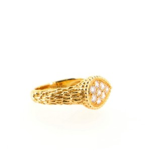 Boucheron Serpent Ring 18K Yellow Gold with Diamonds 6.25 - 53
