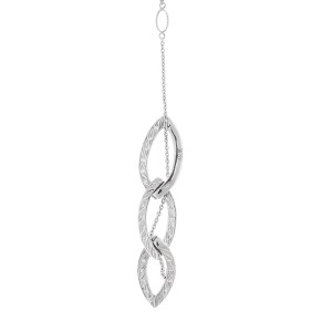 Alor 18K White Gold 3 LOOPS Necklace