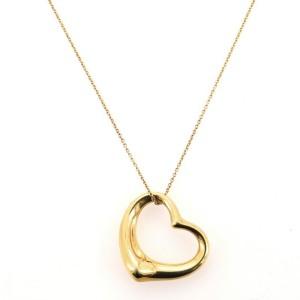 Tiffany & Co. Elsa Peretti Open Heart Pendant Necklace 18K Yellow Gold