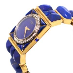 Vintage Chopard Yellow Gold and Lapis Lazuli Watch