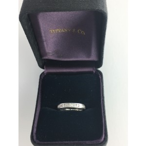 Tiffany & Co. Platinum & 0.66ct Diamond 1/2 Circle Ring Size 7