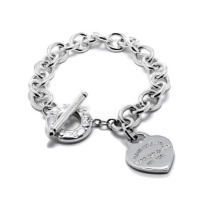 Tiffany & Co. Heart Tag Charm Bracelet with Toggle