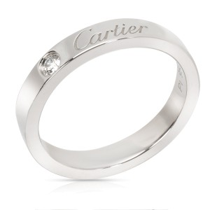 Carter 'C de Cartier' Unisex Diamond Wedding Band