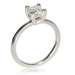 GIA Certified Princess Diamond Engagement Ring in 14KT White Gold F VS1 0.67