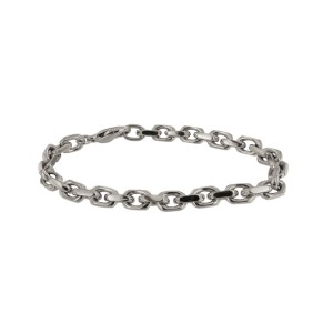 "Details about  Tiffany&Co. 18k White Gold Spartacus Link Bracelet 8"""