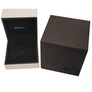 Chanel Medium Ultra 18K White Gold & Black Ceramic Diamond Ring - Unisex