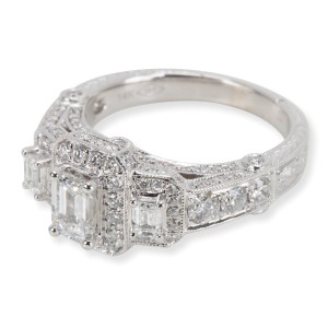 Zales Three Stone Diamond Engagement Ring in 14K White Gold 1.96 CTW