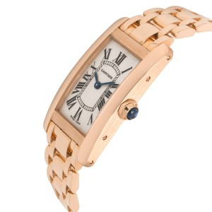 Cartier Tank Americaine 2503 Women's Watch in 18kt Rose Gold