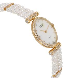 Van Cleef & Arpels Pearl Dress 18601 BI NCI Women's Watch in 18kt Yellow Gold