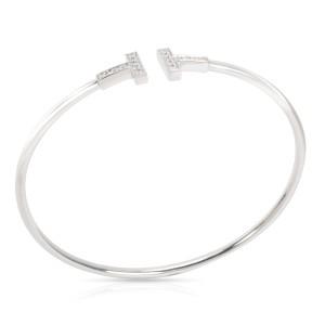 Tiffany & Co. T Wire Diamond Bangle in 18K White Gold 0.22 CTW
