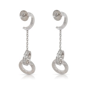 Cartier Love Dangle Diamond Earrings in 18K White Gold 1.02 CTW