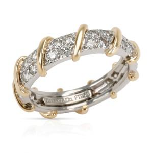 Tiffany & Co. Schlumberger Platinum & 18K Yellow Gold Diamond Band, 7/8 CTW