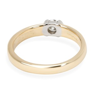 Tiffany & Co. Semi Bezel Diamond Engagement Ring in 18KT Gold E IF 0.21 CTW