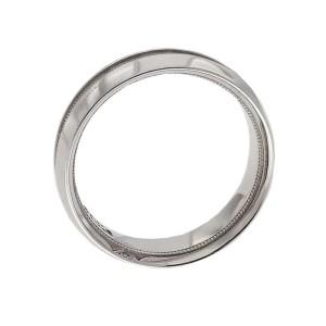 Tacori 18K White Gold 0.01ctw Diamond Ring Size 11