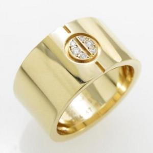 Cartier Love 18K Yellow Gold Diamond Ring Size 5.75