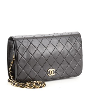Chanel Vintage Full Flap Bag Quilted Lambskin Medium