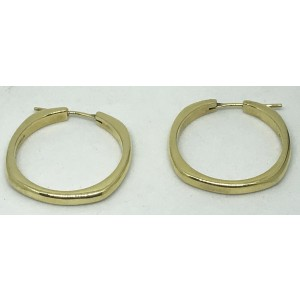 Tiffany & Co. Classic 18K Yellow Gold Hoop Earrings