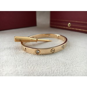Cartier Love 18K Yellow Gold 6 Diamond Size 17
