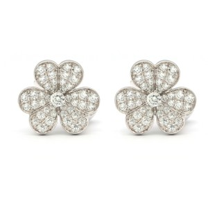 Van Cleef & Arpels Cosmo Earrings 18K White Gold Diamond