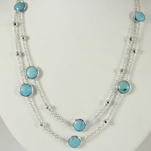 Ippolita Rock Candy Necklace 925 Sterling Silver Turquoise