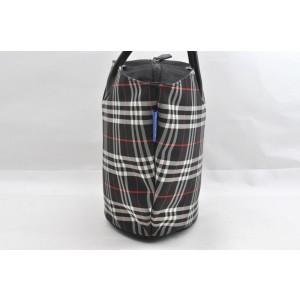 Burberrys BLUE LABEL Check Nylon Hand Bag Black