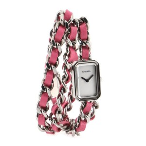 Chanel Premiere Rock Triple Row Quartz Watch Stainless Steel and Leather 16