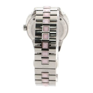 Christian Dior Christal Quartz Watch Stainless Steel and Mother of Pearl with Diamond Bezel 34