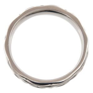 CHANEL Medium Platinum Matelasse Ring