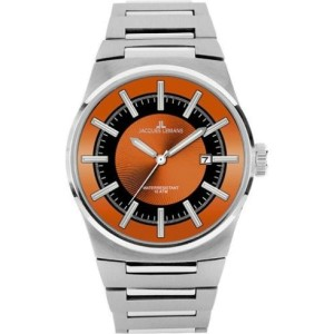 Jacques Lemans 1334D Nevada Orange Dial Mens Watch