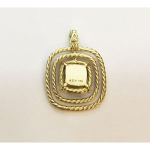 David Yurman Chatelaine Collection 18k Yellow Gold 1.38ct Pendant